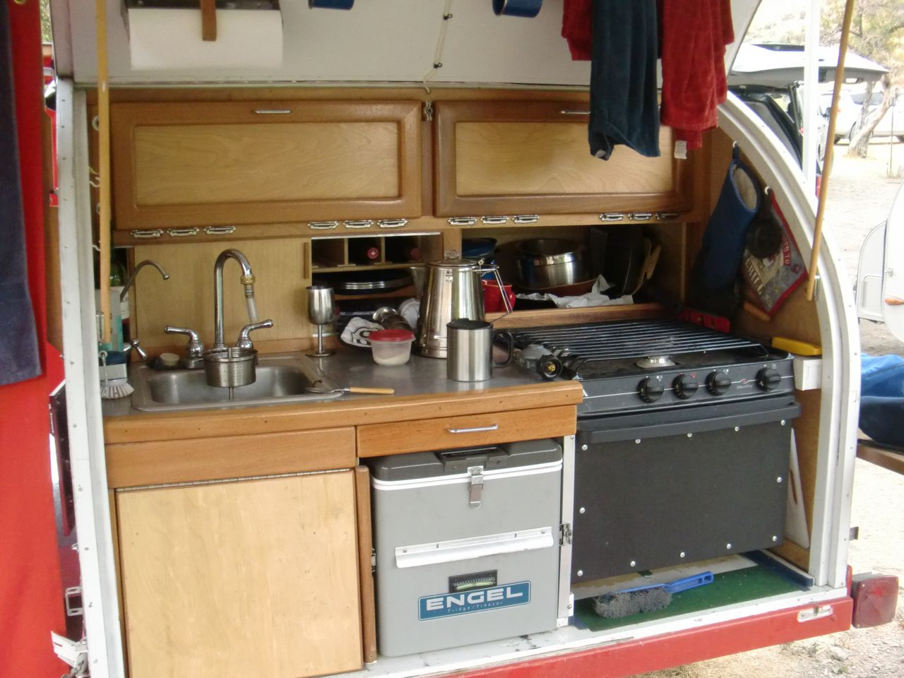 Camper Trailer Kitchen Similiar Teardrop Trailer Galley Keywords