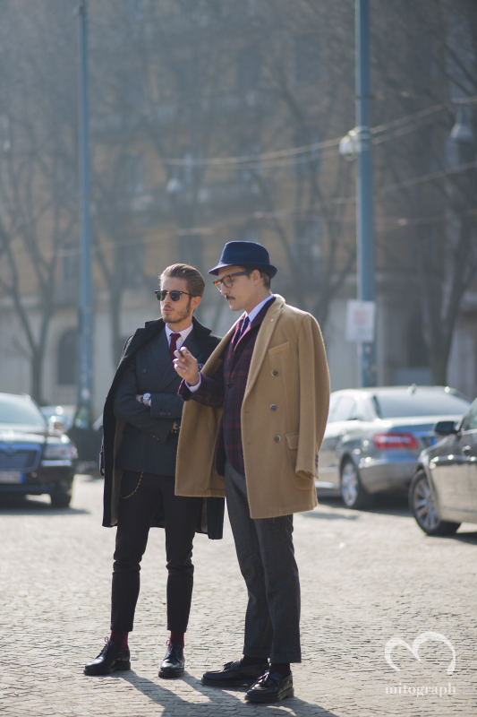 Marco Taddei and Fabrizio Oriani at Milan Fashion Week 2014 Fall WInter Season MFW