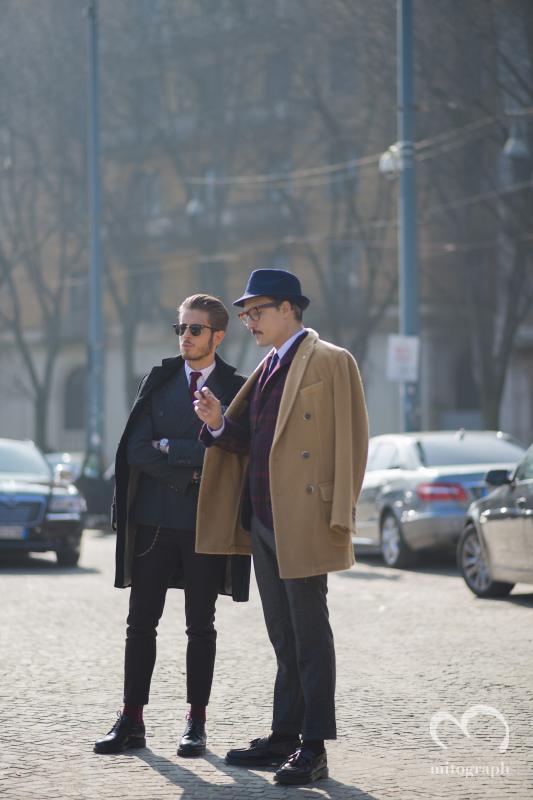 Marco Taddei and Fabrizio Oriani at Milan Fashion Week 2014 Fall WInter Season MFW