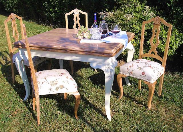 El desvan de mamen mesa de comedor shabby - Restaurar sillas de madera ...