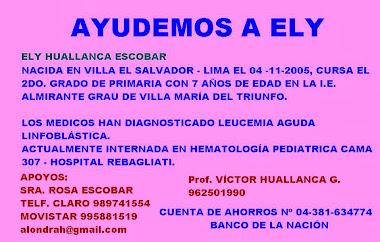 AVISO DE SOLIDARIDAD CON EL PROF. VICTOR HUALLANCA