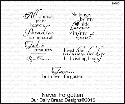Our Daily Bread Designs Stamp set: Never Forgotten