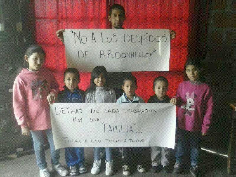 No a los despidos en Donnelley