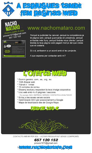 Pàginas web, Esplugues de LLobregat, Disseny Gràfic, Nacho Mataró,