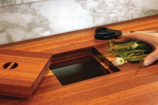 Hole Garbage Chute : Simplifying remodeling trend to try a kitchen counter