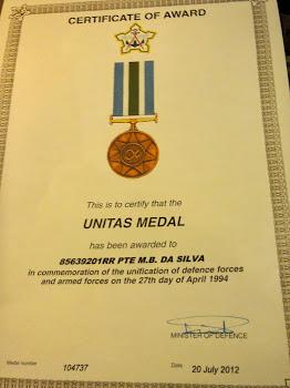 mil Unitas medal