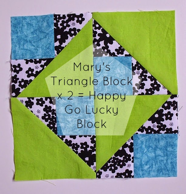Mary's Triangle Block/Happy Go Lucky Block tutorial