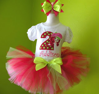 Strawberry Shortcake Birthday Girls Tutu Outfit
