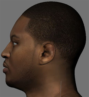 NBA2K13 Carmelo Anthony HD Face - Side view (3D)