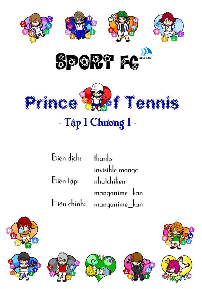 Hoàng tử Tennis Chap 1 - Trang 1
