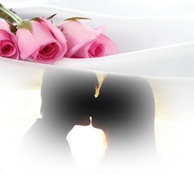 cuadro de fotos rosas