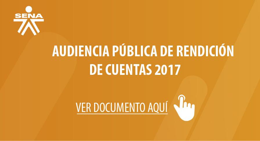 Audiencia Publica Rendición de Cuentas 2017