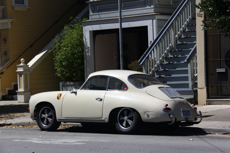 California Streets San Francisco Street Sighting 1965 Porsche 356 Sc