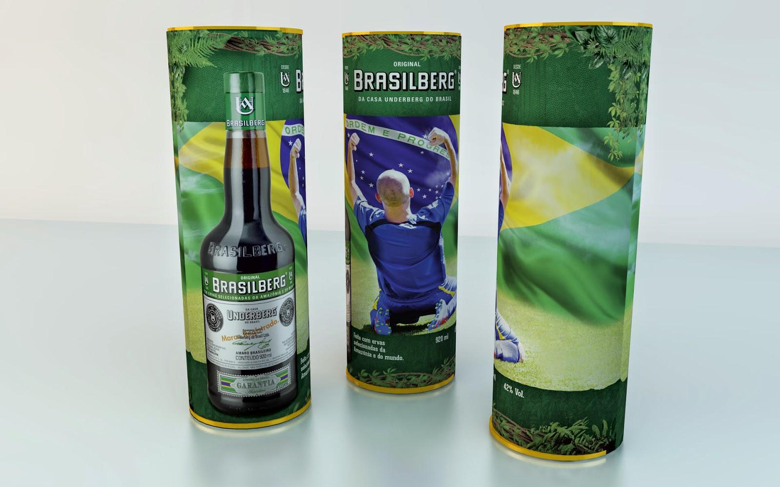 Brasilberg ganha embalagem em homenagem à Copa