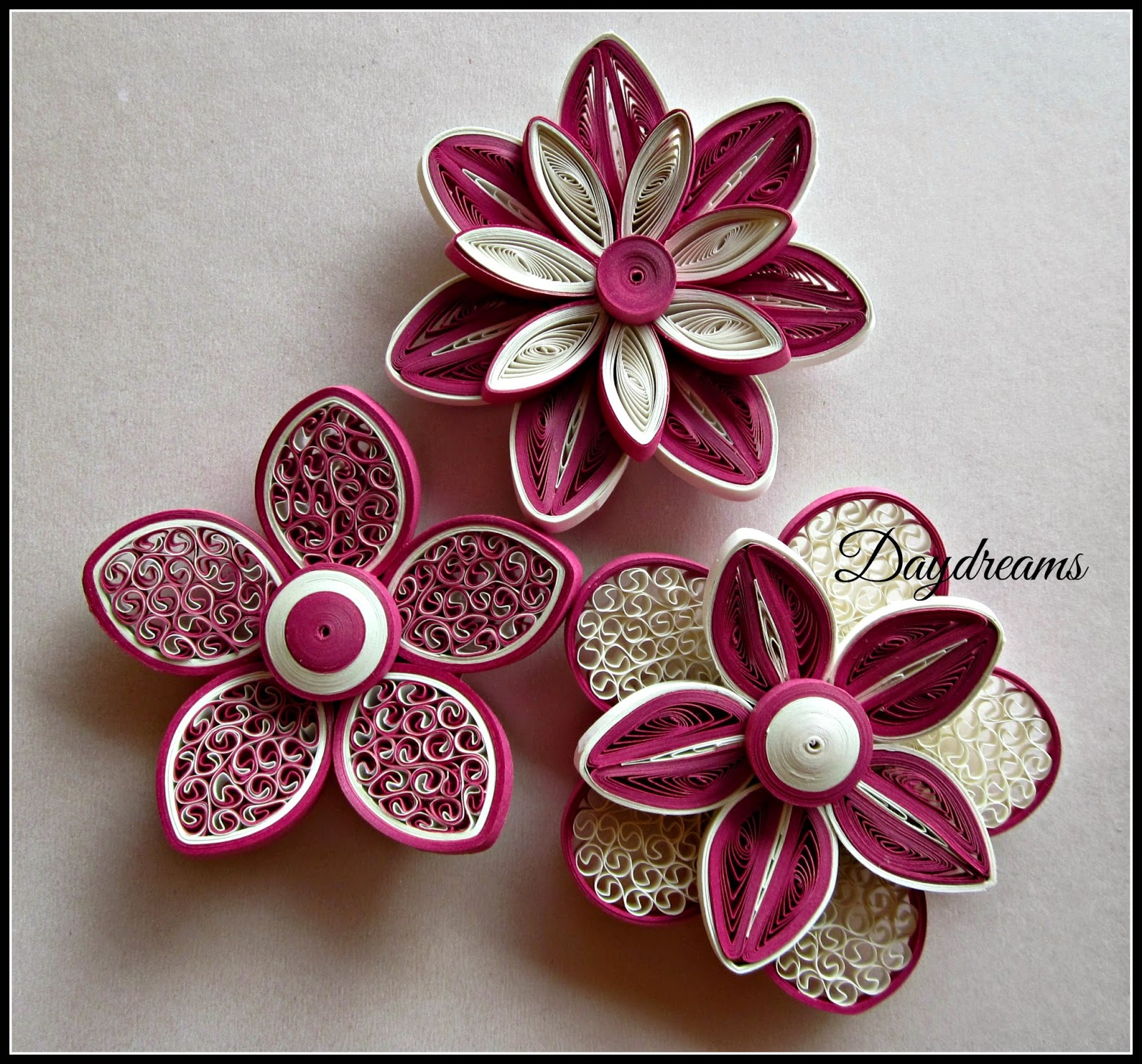Daydreams for my love for quilled flowers for Best quilling designs