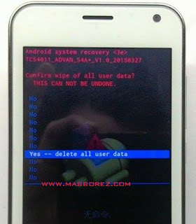 Cara Hard reset advan S4A Plus
