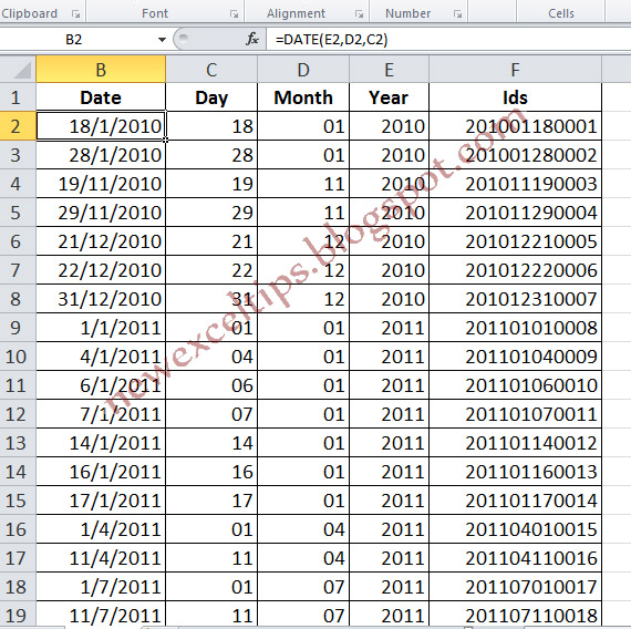 how to use left function in excel for dates