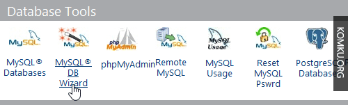 mysql database wizard icon
