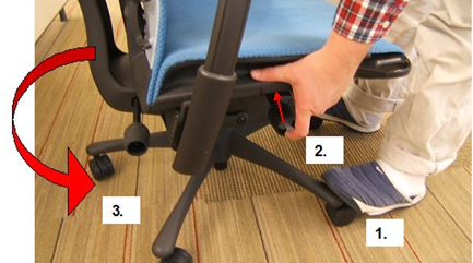 so here goes for those of you trying to adjust a herman miller chair