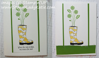 The boot from Stampin'UP! set: Bootiful with the words blocked out.