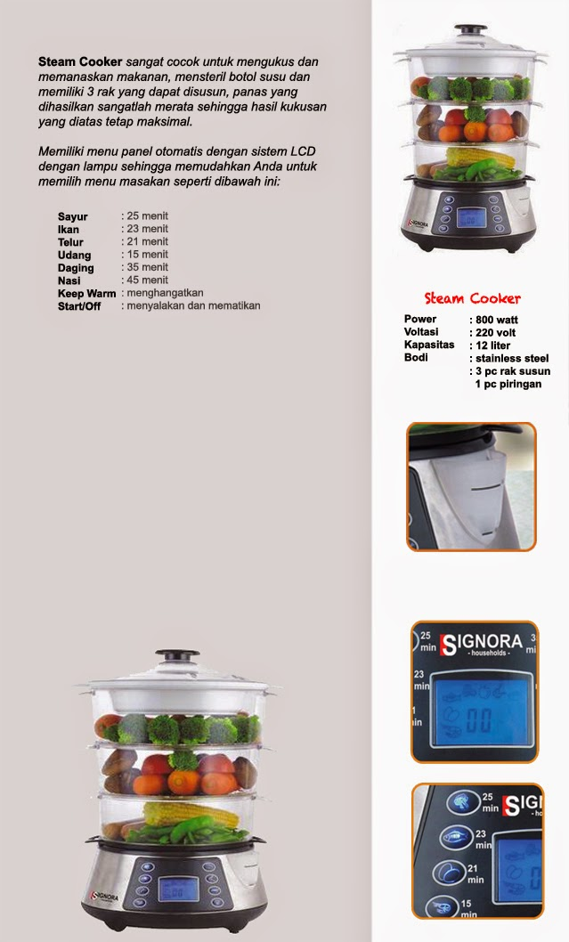 Steam Cooker Signora