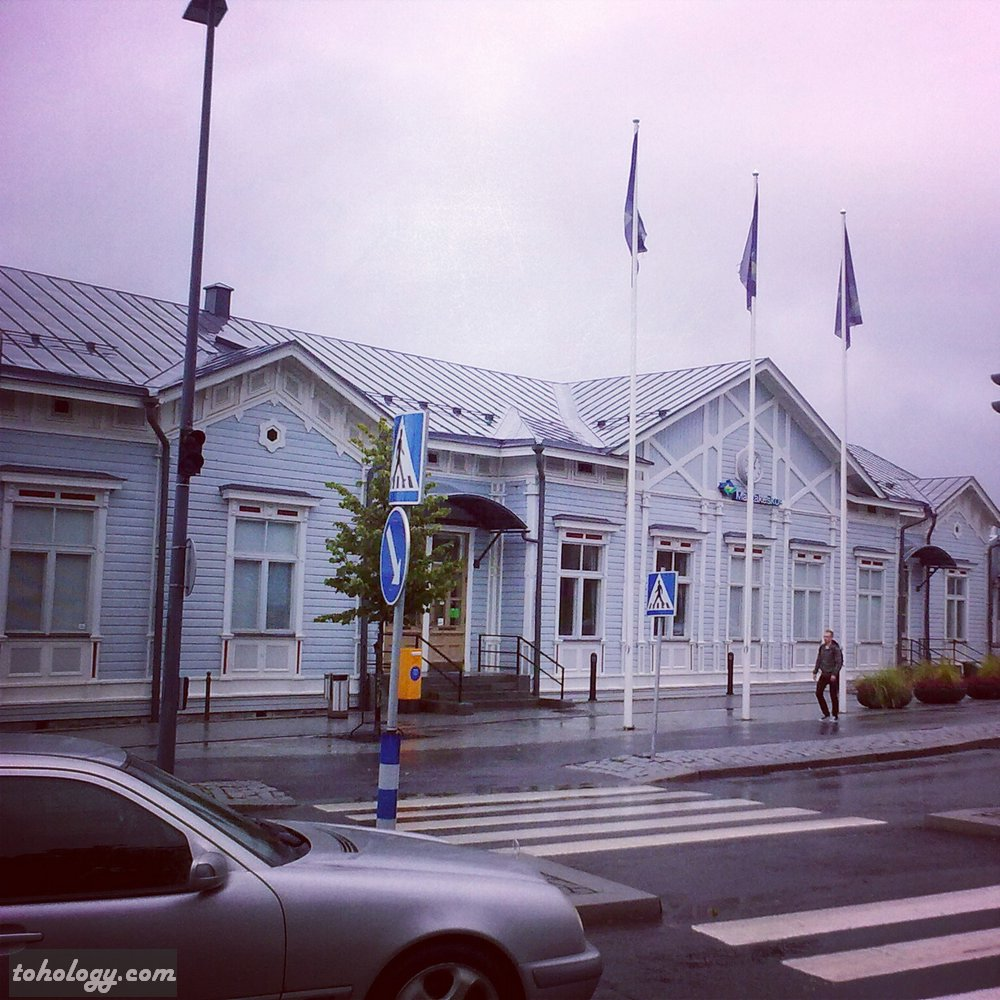 Railroad station in Mikkeli