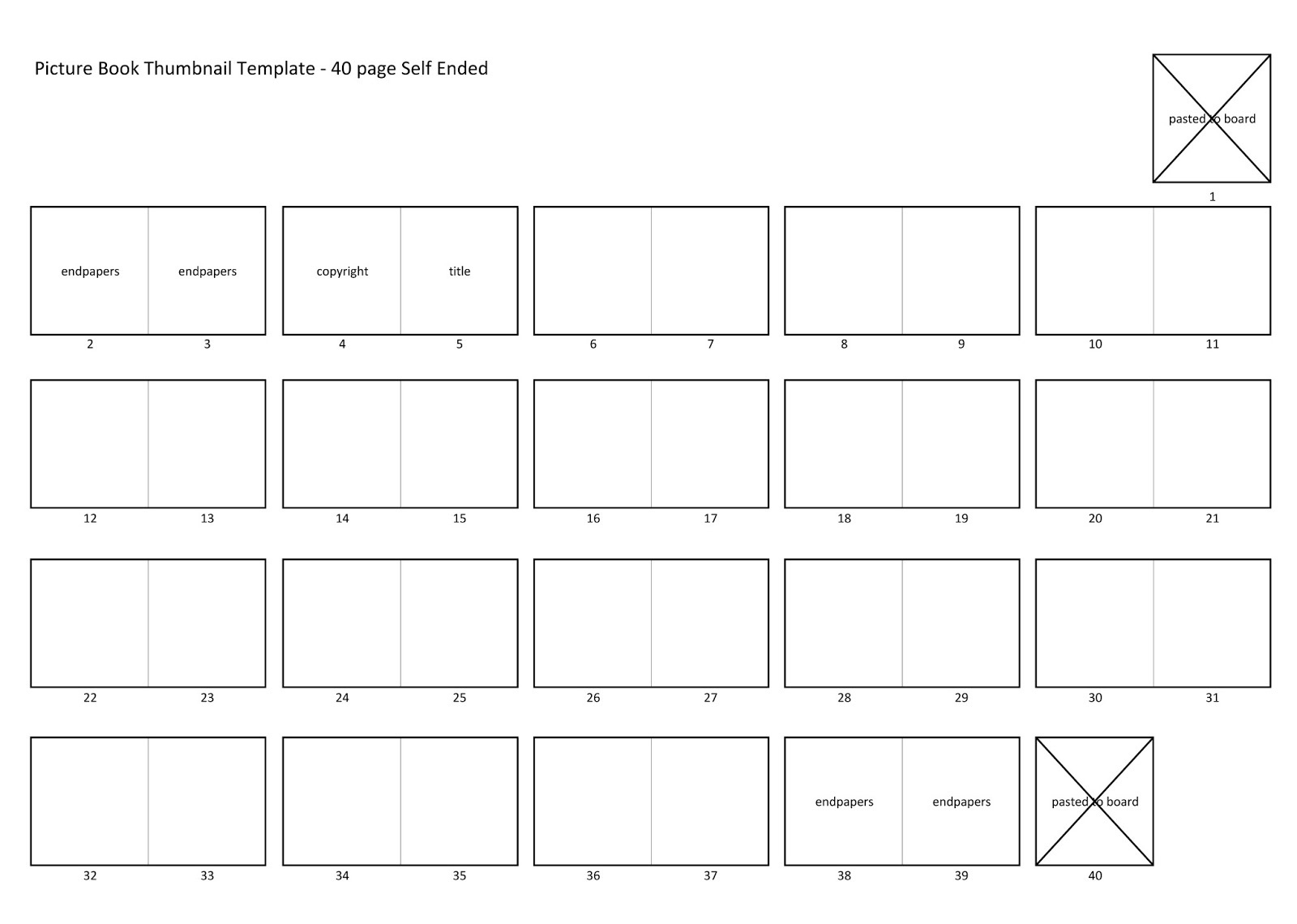 ArtGhost: 40 page self ended picture book thumbnail template