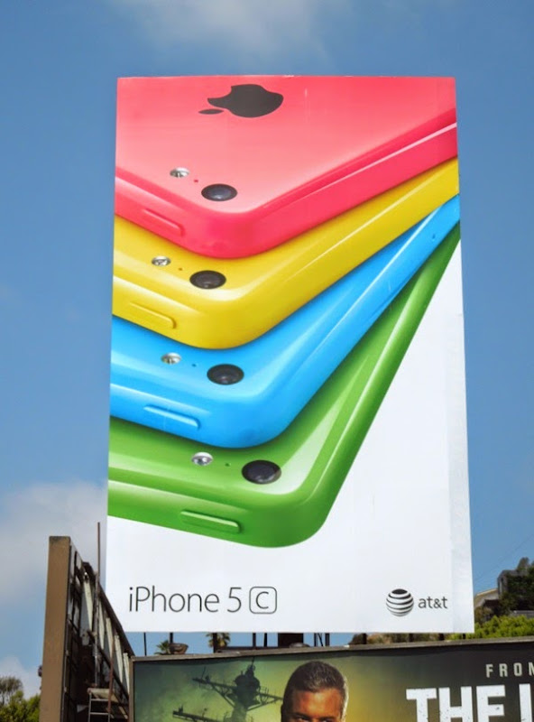 Giant Apple iPhone 5c white background billboard