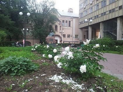 Памятник Вишневскому А.В. в сквере у Главного корпуса