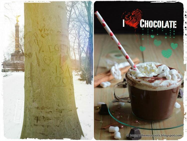 hot chocolate and winter white tiergarten
