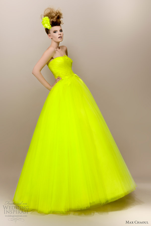 Robe soiree fluo