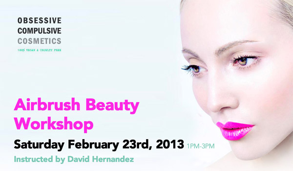 lola's secret beauty blog: Obsessive Compulsive Cosmetics Airbrushing Workshop Saturday February 23, 2013