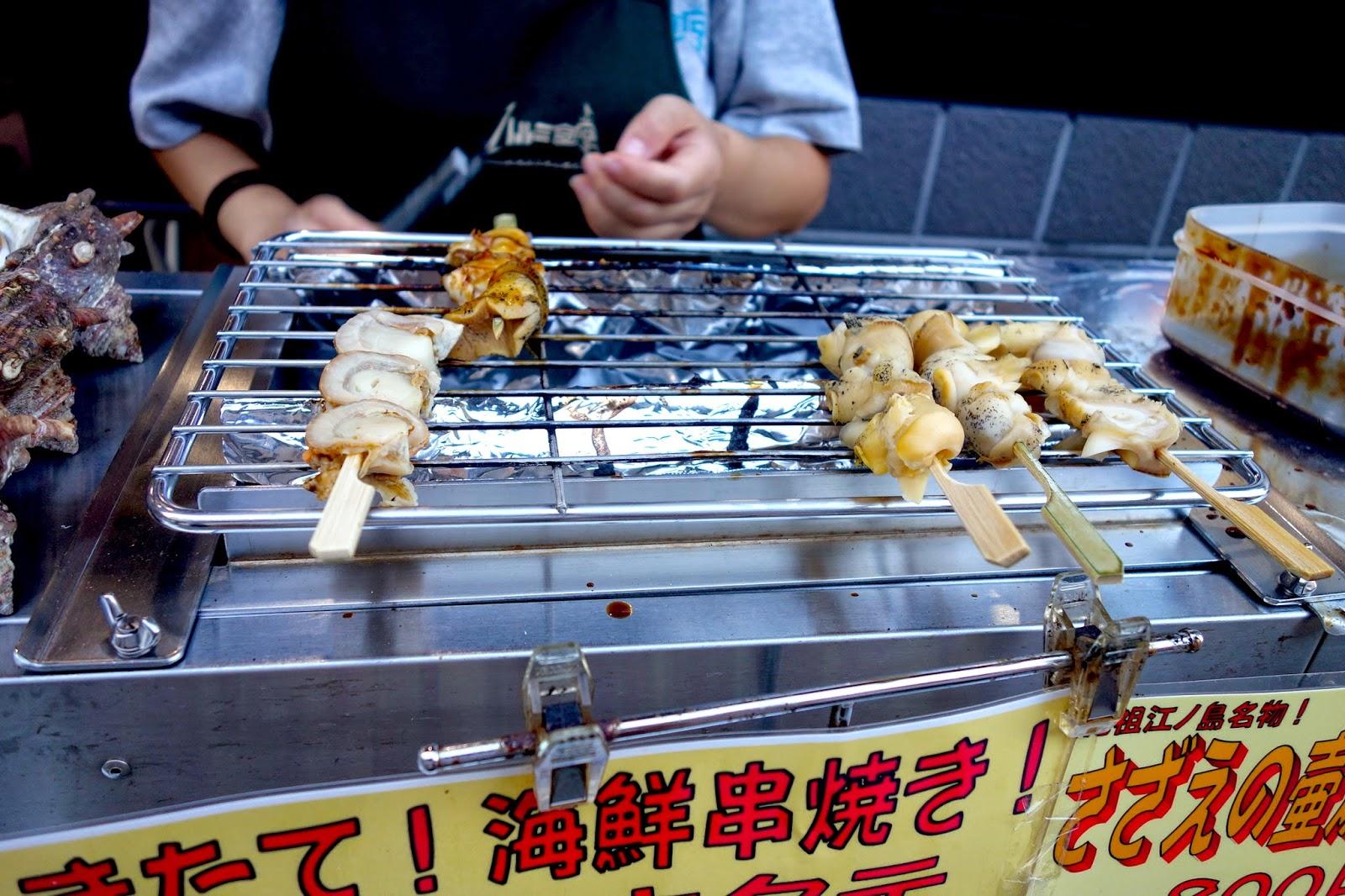 Kamakura Day trip Sep Enoshima seafood hotate