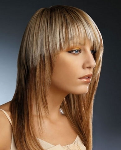 Stylish Two Tone Hair Color 2013