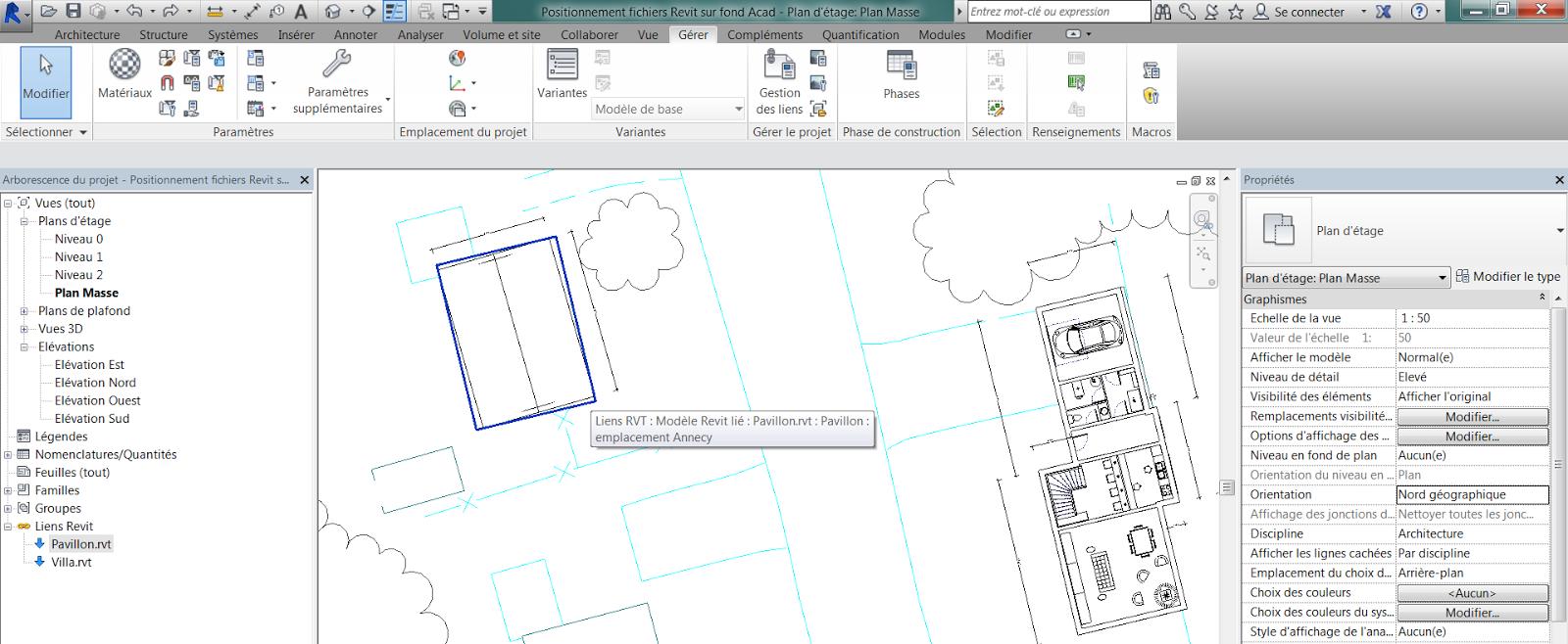 Préférence Revit-Mémo: Revit 2015_Implantation de bâtiments en fichiers liés  WC92