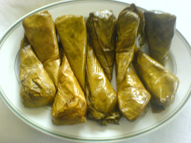 Suman Sa Lihiya Such Genuine Filipino Rice Cake Could Be Eaten With Hot Chocolate Or Coffee For Beverage Its Name Came From Its Appearance When The