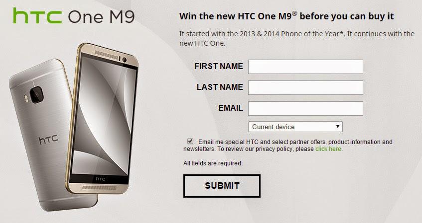 Mau HTC One M9 gratis? disini tempatnya