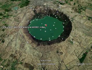 Lonar crater (Google Earth)