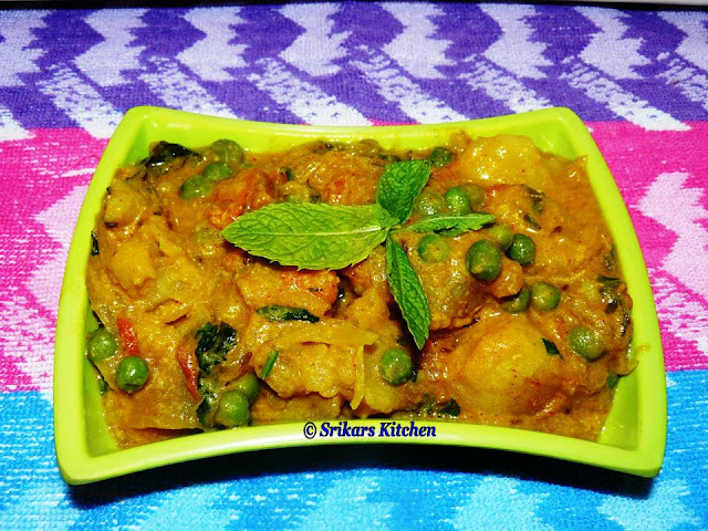 POTATO PEAS MASALA / ALOO MUTTER KURMA