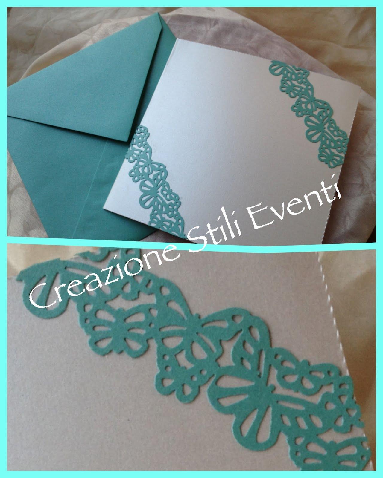 Partecipazioni Matrimonio Azzurro Tiffany : Creazione stili eventi partecipazioni matrimonio