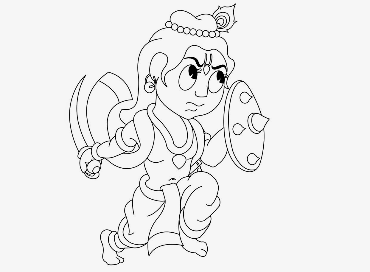 Colour drawing free hd wallpapers little krishna coloring for Coloring pages of krishna