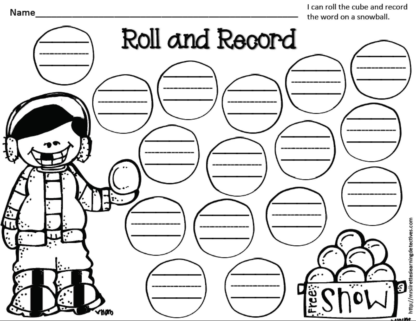 http://www.teacherspayteachers.com/Product/Winter-Roll-and-Record-FREE-1652513