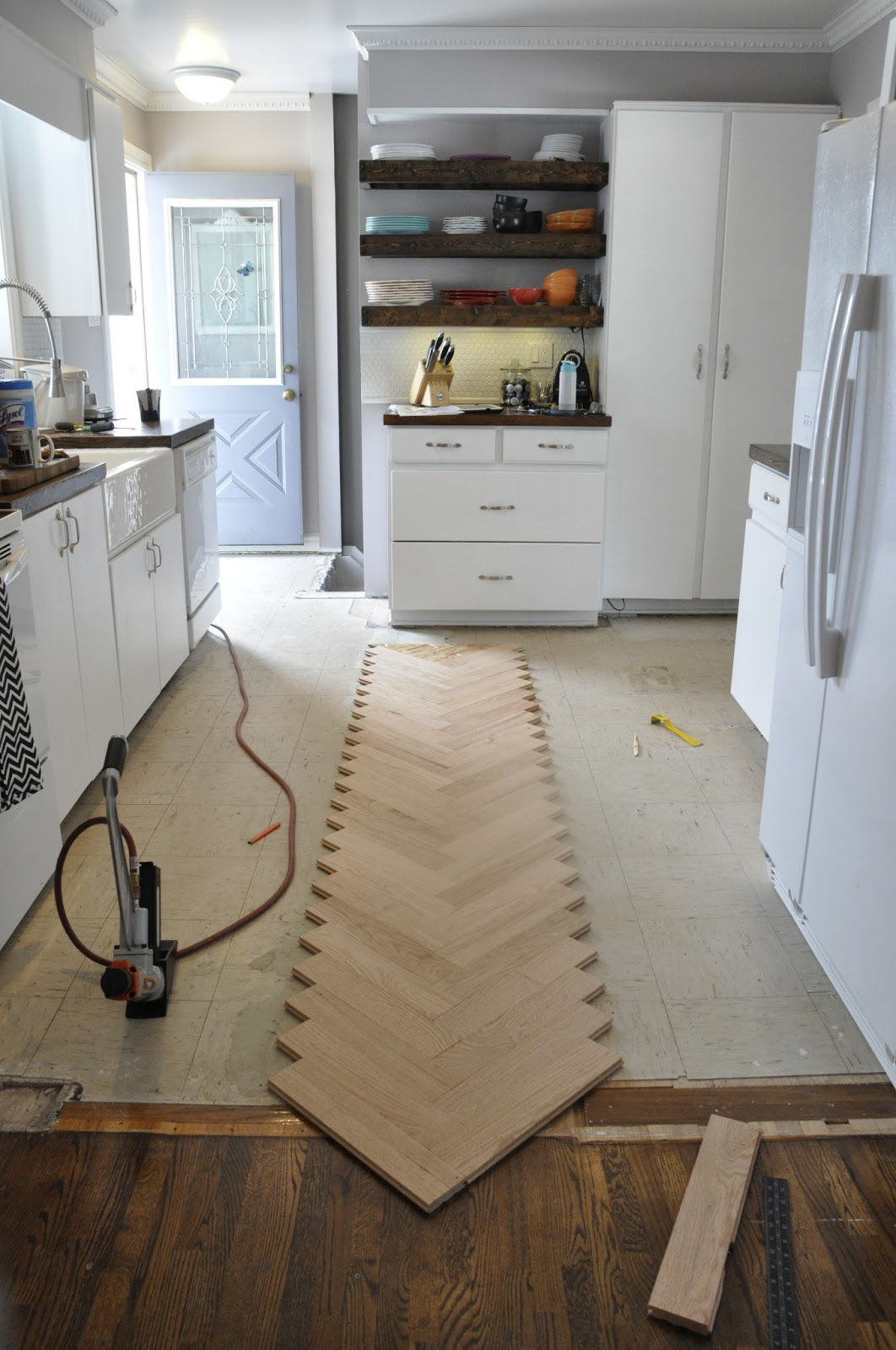 Artisan Des Arts Diy Herringbone Hardwood Floors Series