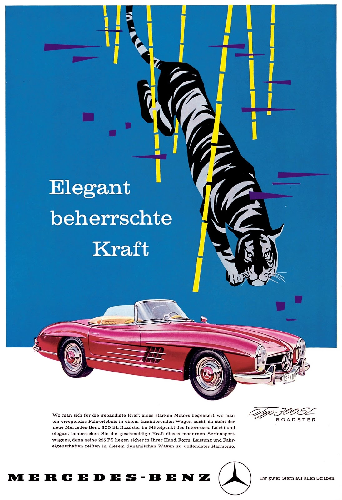 The automobile and american life mercedes benz 300 sl for Vintage mercedes benz posters