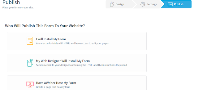 aweber web form install settings