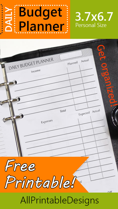 Free Printable Budget Planner. Vacation Organizer And Budget Planner ...