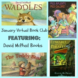 david mcphail, picture books, book activities, book clubs