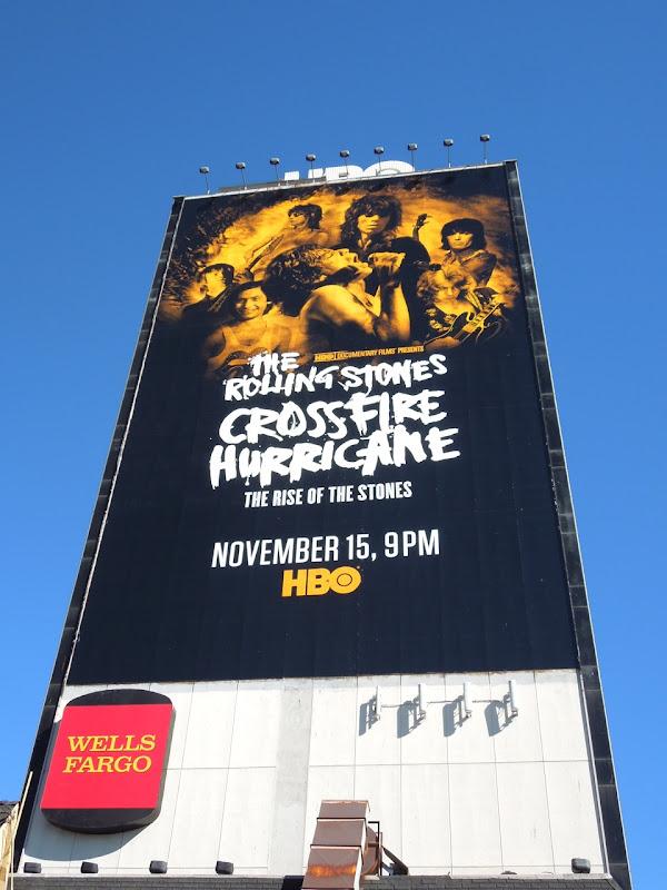 Rolling Stones Crossfire Hurricane documentary movie billboard