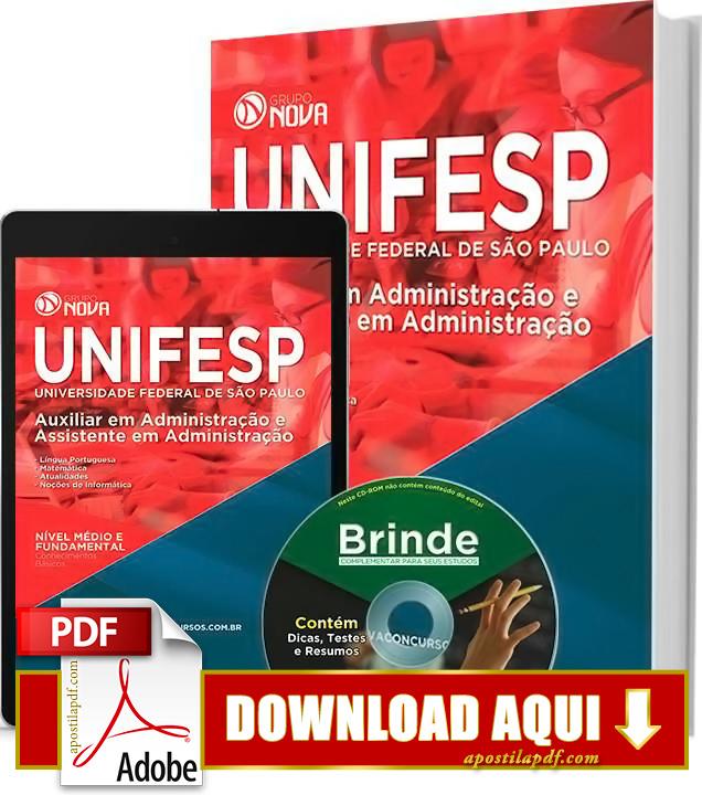 Apostila UNIFESP Auxiliar em Administração PDF Download Grátis