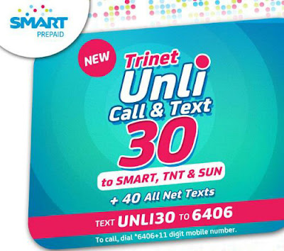 Smart Unli Call and Text 30 Plus Mobile Internet
